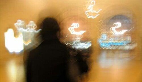 A blurry scene.