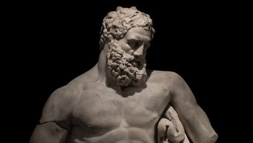 A statue of Hercules.