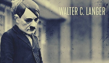 Psychoanalyst Walter C. Langer and the Mental Study of Hitler