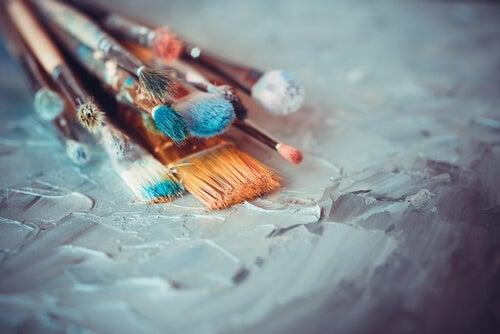 Some paintbrushes.