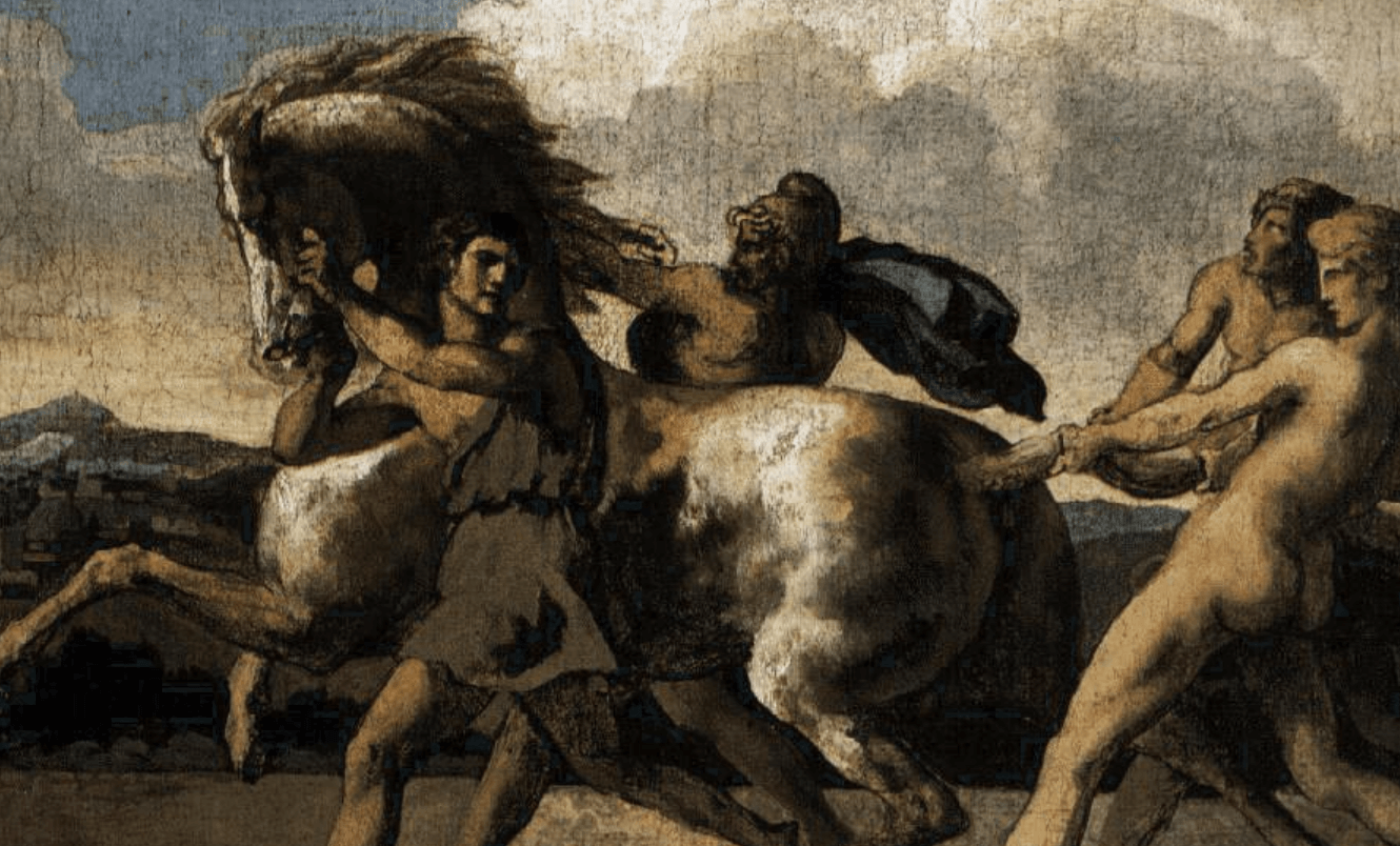 The Capture of a Wild Horse.