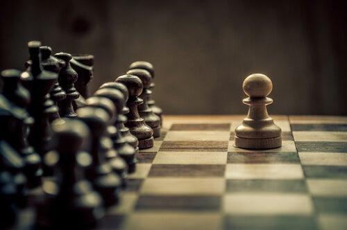 A chessboard.