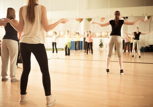 A dance therapy class.