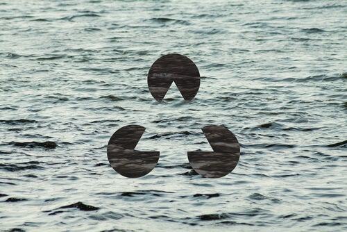 A body of water with Gestalt symbol related to Max Wertheimer.