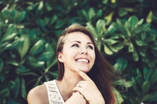 A happy woman.