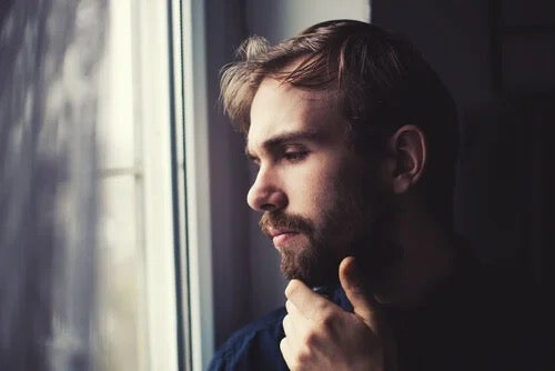 A man looking thoughtful.