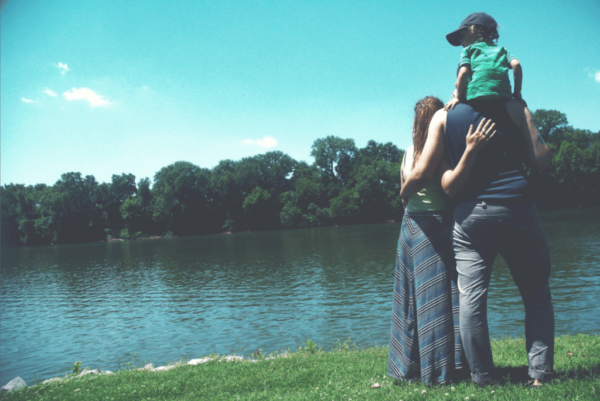 A resilient family by the lake.
