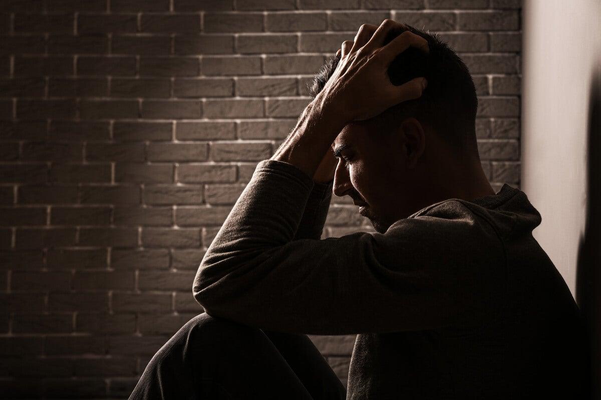 Image of anxious man.