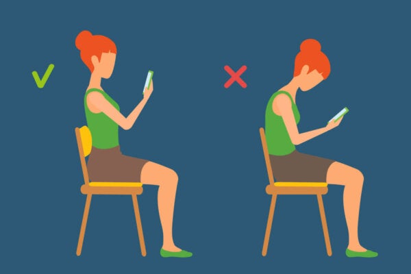 Proper posture for using the cell-phone.