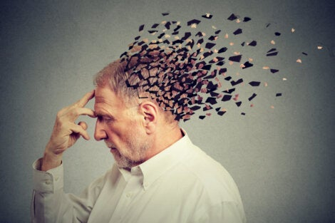 An elderly man with frontotemporal dementia.