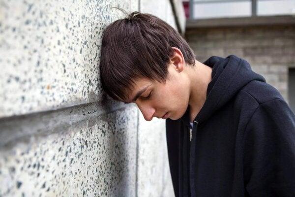A boy looking upset.
