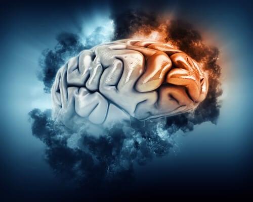 A floating brain.