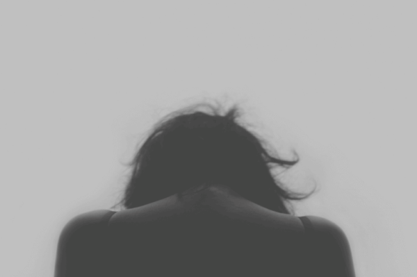 The back of woman.
