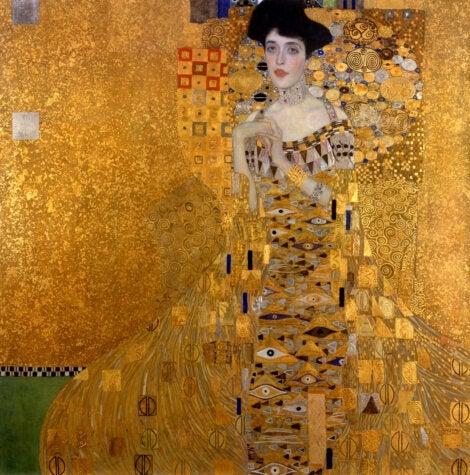 A portrait of Adele Bloch-Bauer, a painting by Gustav Klimt.