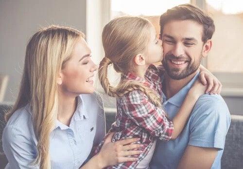 A happy family.