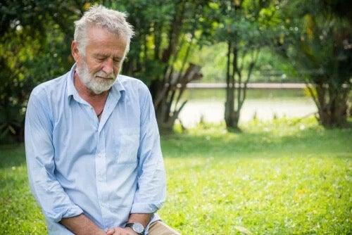 A man looking depressed.