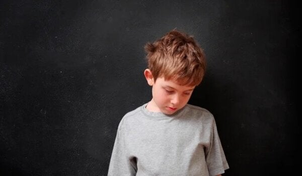 An unhappy child.