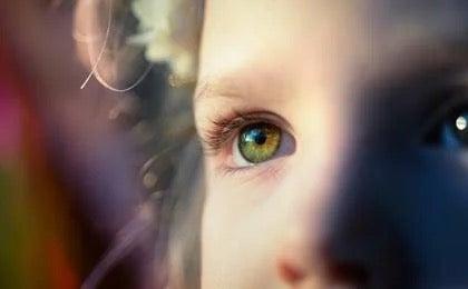 A child's eye.