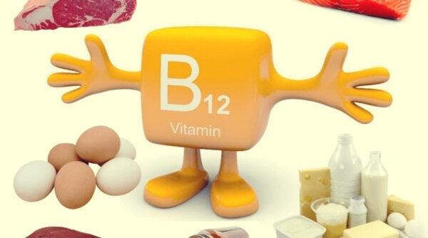 A figure representing vitamin B12.