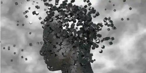 En modell av et hode.