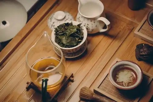 Ingredients for a tea ceremony.