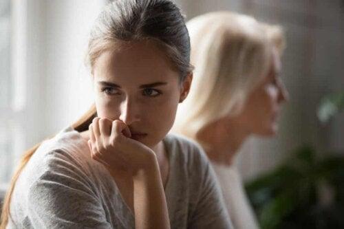 Een gefrustreerde vrouw