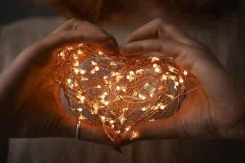 A lit heart.