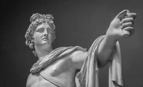 A sculpture of Apollo.