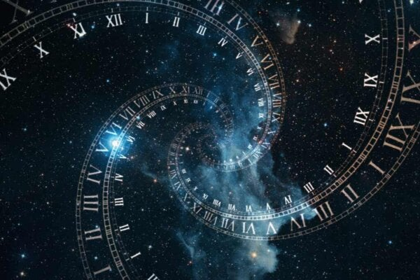 An infinite spiral.