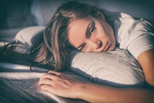 A woman feeling apathetic toward life.