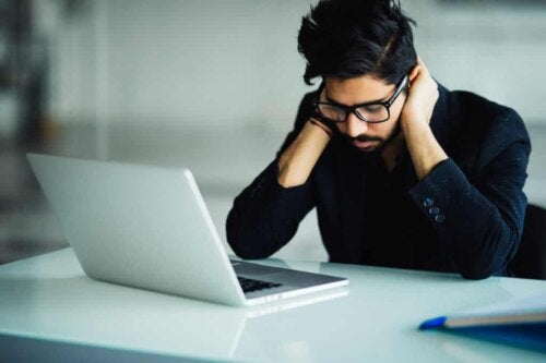 A man learning to differentiate apathy from boredom.