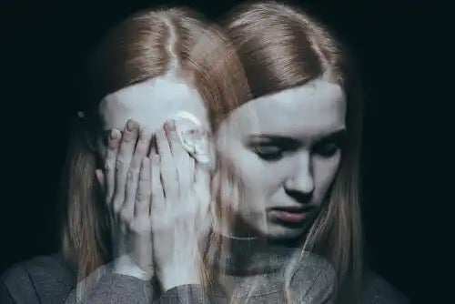 A woman suffering schizophrenia, requiring a treatment for mental illness.