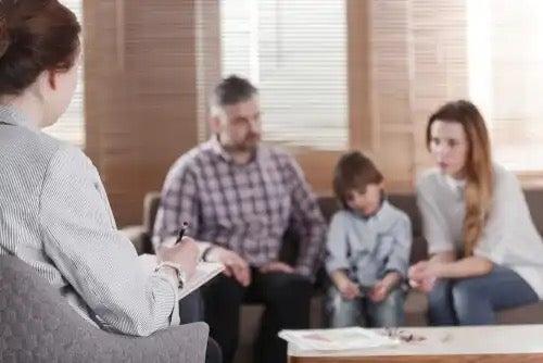 Een gezinstherapiesessie