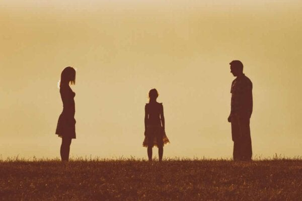 A child torn between two parents.