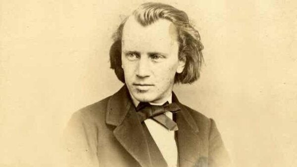 A picture of Johannes Brahms.