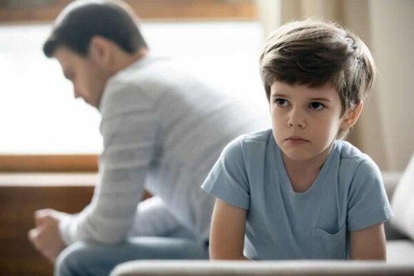 A seemingly upset child.