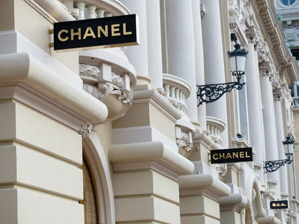 The House of Chanel signs.