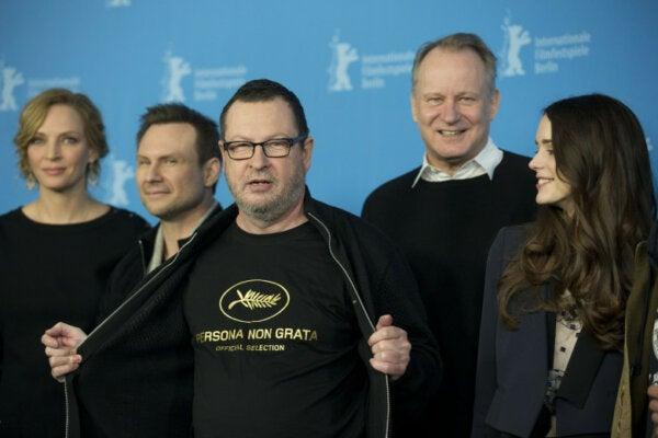 Lars Von Trier as persona non grata at Cannes. non grata