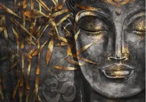불교 얼굴 동상입니다.