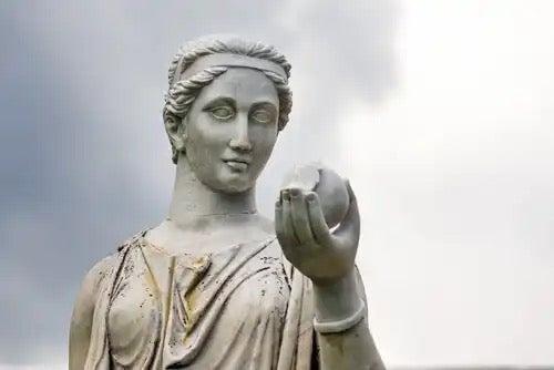 A Greek statue.