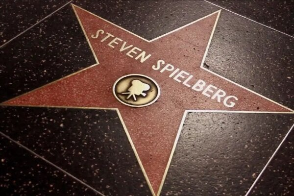 Steven Spielber'in Walk of Fame'deki yıldızı.